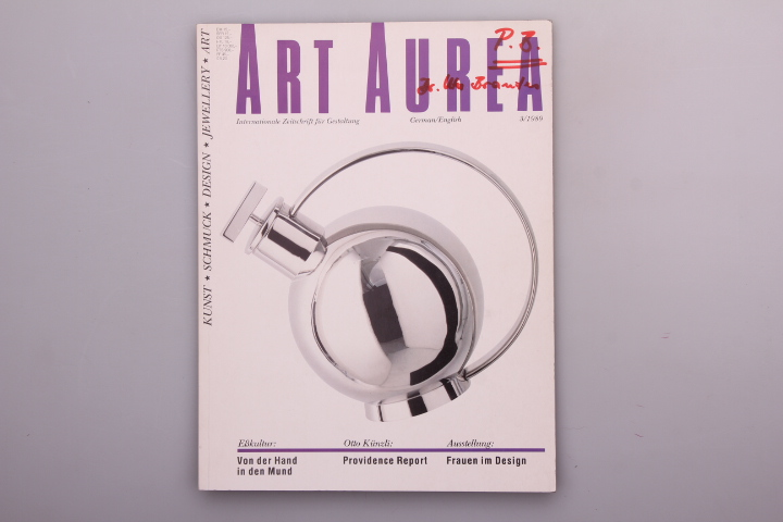 ART AUREA - INTERNATIONALE ZEITSCHRIFT FÜR GESTALTUNG - 3/1989