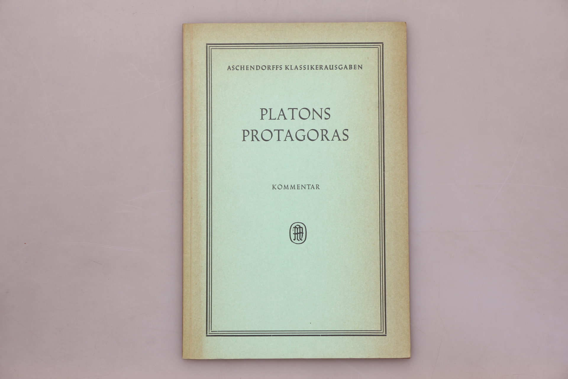 PLATONS PROTAGORAS