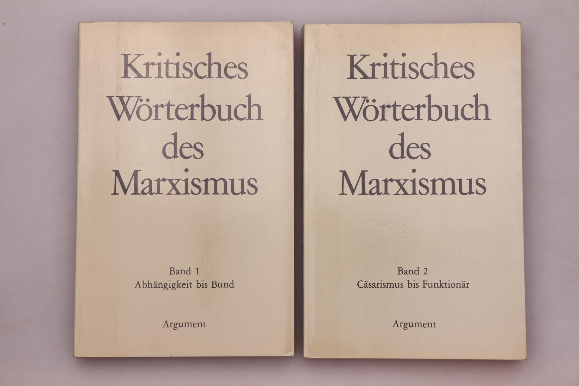 KRITISCHES WÖRTERBUCH DES MARXISMUS